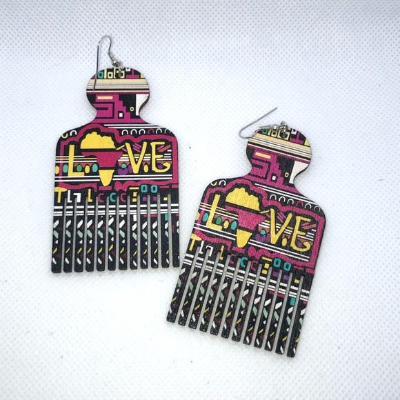 Jewelry - Unique Love Vibrant Pick Earrings